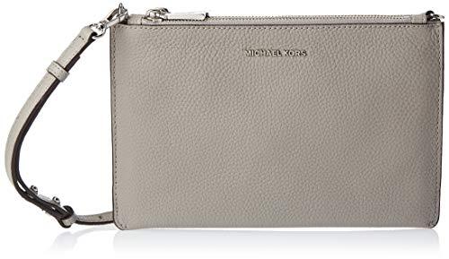 "Pebbled Leather with Silver Tone Hardware Zip Top Closure Exterior Details: Back Zip Pocket, Center Snap Pocket, Front Zip Pocket Interior Details: Back Slip Pocket, 6 Card Slots 9.75""W X 6.5""H X 1.5""D; Adjustable Strap: 21""-23"""