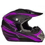 Moda - Casco integrale da moto unisex, per mountain bike, scooter, ATV, downhill, fuoristrada, con copertura del viso e guanti Hard Shell