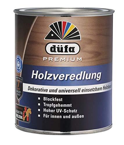 DÜFA PREMIUM HOLZVEREDELUNG | Wetterschutz-Lasur | Holzschutz-Lasur | Absolute Premium-Qualität | 2,5 Liter WEIß