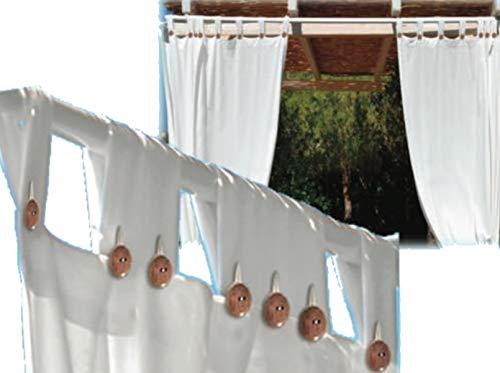 F-U Tenda da Sole a Bretelle per Gazebo Bianca o Panna (cm 140x270, Bianco)