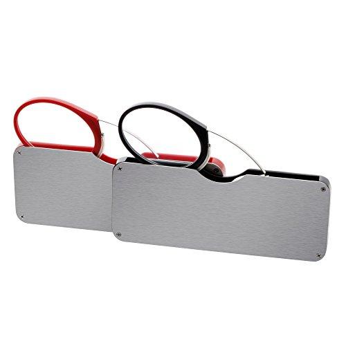 (レンサン) LianSan老眼鏡 携帯用ルーペ アイカード 鼻に挟むカード型レンズ 超薄い ユニセックス レディース メンズ 女性 男性 おしゃれな コンパクト ポケット リーディンググラス シニアグラス 老眼鏡 L4110 二本セット (+3.00,