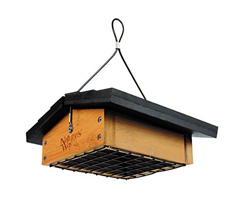 Nature's Way Bird Products BWF2 Bamboo Suet Upside-Down Bird Feeder