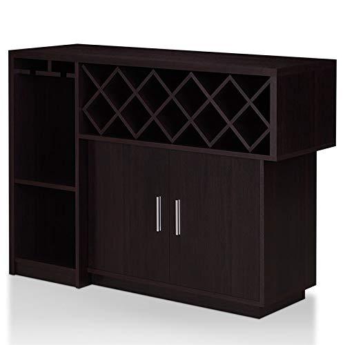 Furniture of America Derick Wood Multi-Storage Buffet Cabinet in Espresso