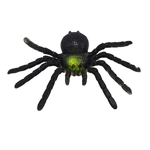 ENticerowts Juguete de Halloween de 15 cm, diseo realista de araa, broma, broma, Halloween, fiesta, broma, accesorios complicados, suministros de fiesta, color negro