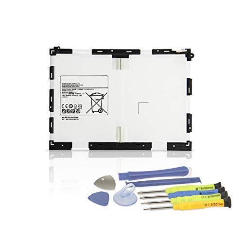 "K KYUER 22.8Wh EB-BT550ABE Tablette Akku für Samsung Galaxy Tab A 9.7"" SM-T550 SM-T555 T555C SM-P351, S-Pen Model SM-P550 P550NZWATGY SM-P555 P555M 3G 4G LTE WiFi EB-BT550ABA Tablet Battery with Tools"