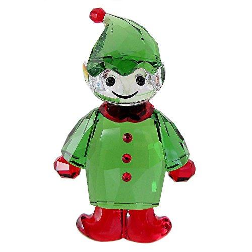 Swarovski Weihnachtself Figur, Kristall, Mehrfarbig, 6.1 x 3.8 x 2.1 cm