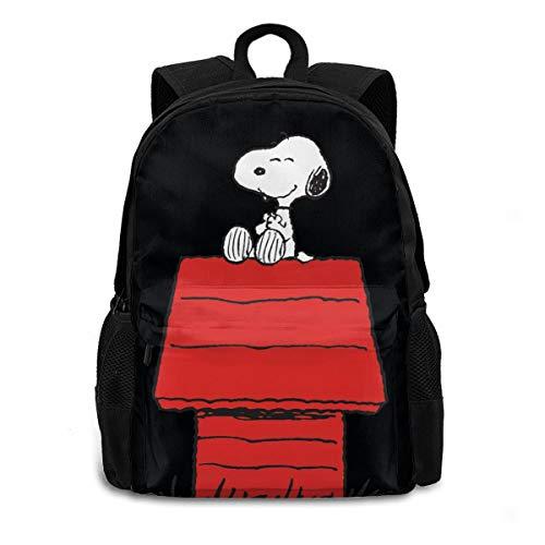 Snoopy On Dog House Youth Backpack Shoulder Bag Travel Bags Laptop Bag School Bag for Boys Girls