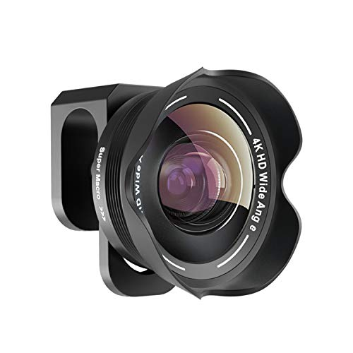 Phone Camera Lens,TODI 4K HD 2 in 1 120° Wide Angle Lens, 20X Macro Lens,Clip-On Phone Lens Compatible iPhone,Samsung, Most Andriod Phones No Distortion