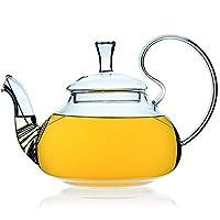 teiera vetro acciaio infusore filtro - teiere per tè sciolto - chiaro glas diffusore di tè 550 ml
