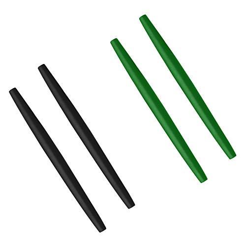 BlazerBuck Calcetines de repuesto para Oakley Glass OX3024 OX3085 OX3144 OX5055 OX5113 OX5120 OX3133 - negro + verde oscuro
