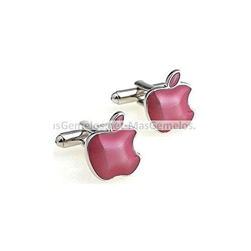 MasGemelos - Manschettenknöpfe Apple Pink Apple Manschettenknöpfe