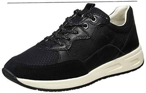 Geox D BULMYA B, Zapatillas Mujer, Negro, 38 EU