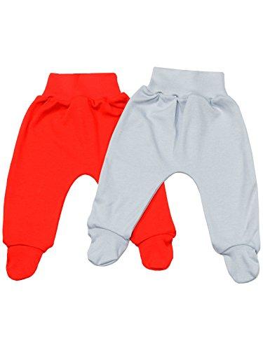 Klekle Baby Jungen Strampelhose (2er Pack) Grau Uni Rot Uni 22752 Größe 86