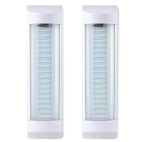 SS VISION Led Interior Light Bar, 1500LM Super Bright Energy Saving 11 Inch 10W 72 LEDs White Light Tube with On Off Switch for Car Van Truck RV Camper Boat Lorry (2 Pack)