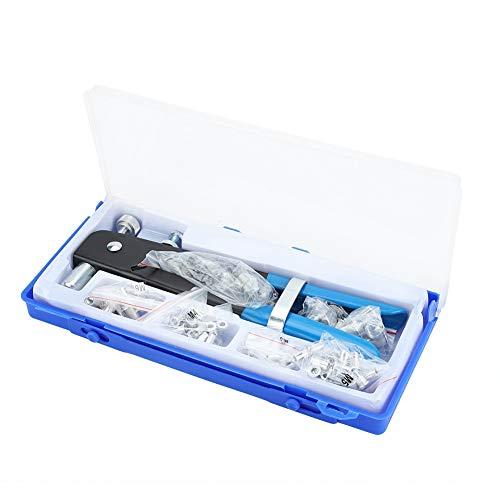 Cocoarm Alicates remachadores Profesionales, 86 Piezas Kit de remachador Manual Pistola Remachadora Pop Pistola Remachadora Pistola Remachadora de Tuerca de Alta Resistencia con Tuerca de aleación