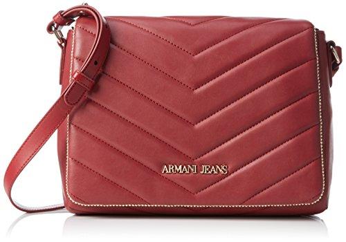 Armani Jeans Damen 9221596A718 Umhängetaschen, Rot (BORDEAUX 00176), 20x9x28 cm