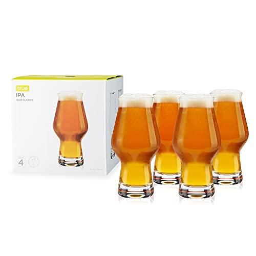 True IPA, Set of 4 Beer Glasses, 16oz