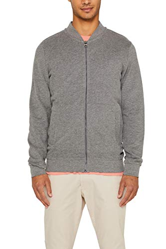edc by ESPRIT Herren 089Cc2J012 Sweatshirt, Grau (Medium Grey 035), Small (Herstellergröße: S)