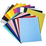 DEHAO 20pcs Heat Transfer Transferpapier 25x30cm Vinylfolien Vinyl Transferfolie für DIY T-Shirt, Buchstaben, Aufkleber, Schilder