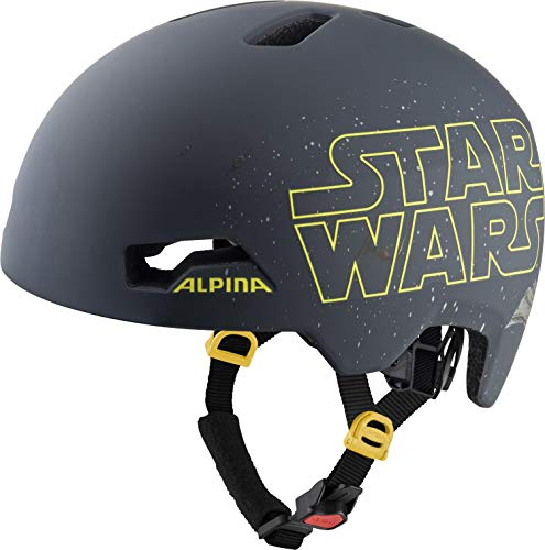 ALPINA HACKNEY DISNEY, Caschi da ciclismo Boys, Star Wars black, 47-51