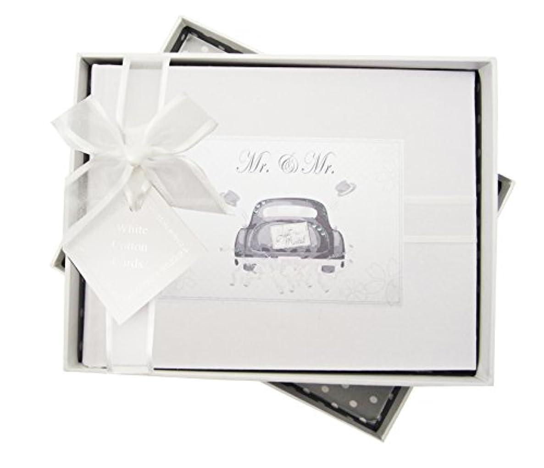 White Cotton Cards Mrs & Mrs Wedding Cake, Handmade Traditional Photo Album.(MRS1S)