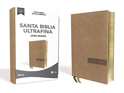NBLA Santa Biblia Ultrafina, Letra Grande, Tamaño Manual, Leathersoft, Beige, Edición Letra Roja (Spanish Edition)