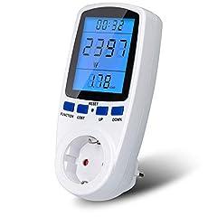 Energiekostenmeter, UNEEDE-backlight elektriciteitsmeter Elektriciteitskostenmeter Elektriciteitsmeter Elektriciteitsanalyzer met LCD-scherm en overbelastingsbeveiliging*