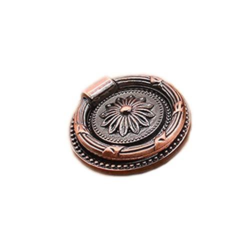 Kenfun Pomos en forma de lazo antiguos de aleación de zinc colgante para zapatero, cajón, cajón, cocina, armario, cajón, cajón, tiradores para armarios (con tornillo de 25 mm)