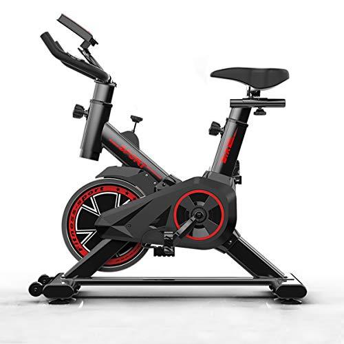 Shhjjpy Bicicleta Estática, Bicicleta De Ejercicio para Ciclismo Indoor, Bicicleta De Spinning, Sensores…