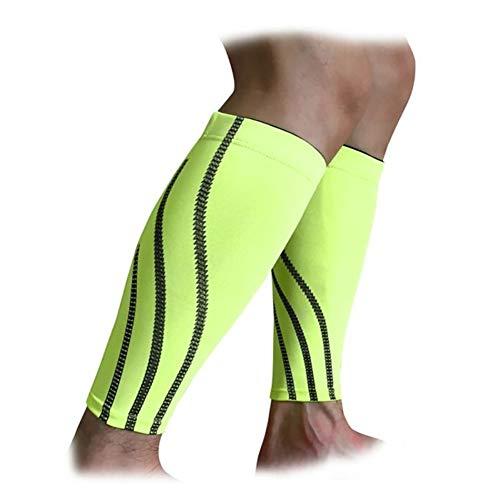 1pc Uomini Sport All'aperto Vitello Tutore Protettore Corsa Gamba Manicotto Compressione Ciclismo Leggings (Colore: Verde, Taglia XL)