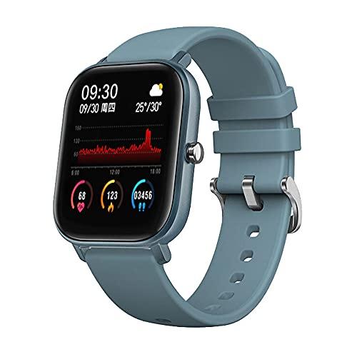 DADAS Smart Watch Men's y Women's Watch 1.4 Pulgadas Pantalla táctil Watch Smart Watch Monitor de frecuencia cardíaca, rastreador de Actividades del podómetro,Azul