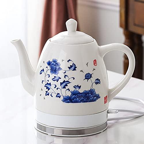 Cerámica eléctrica Kettl porcelana 1350W,1.8L tetera de espuma de porcelana tetera diaria Kungfu tetera de cerámica hervidor eléctrico, té de cerveza rápida, sopa de café/A