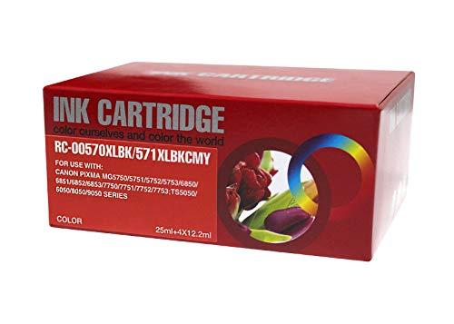 TONERPACK PGI570XL/CLI571XL Pack de 5 Cartuchos de Tinta Genericos para Canon