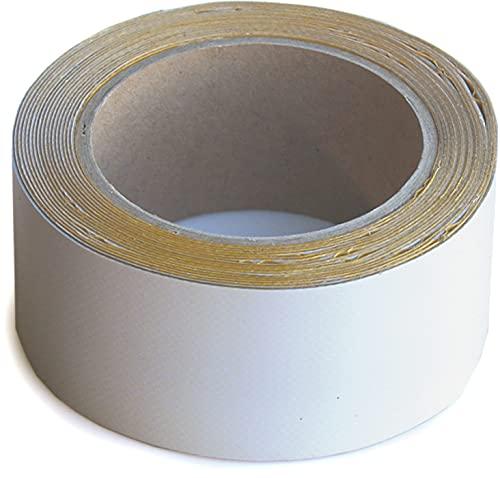 Wupsi PVC-Planen-Reparaturband - Klebeband zur Reparatur von Löchern & Rissen an LKW-Plane, Anhängerabdeckung, Markise & Zelt - 5 cm x 5 m, grau-spezial