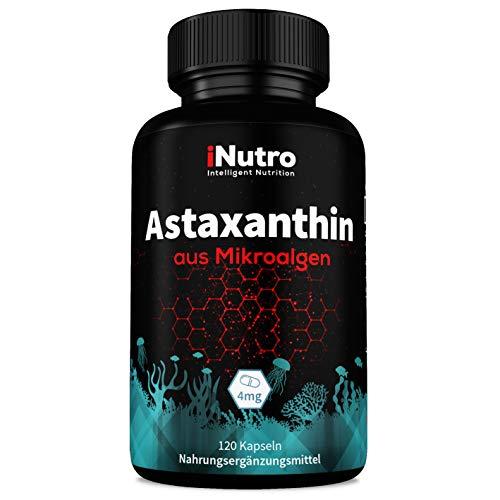 Astaxanthin natürlich | 4 mg 120 Kapseln vegan | DE Herst. und laborgeprüft - iNutro
