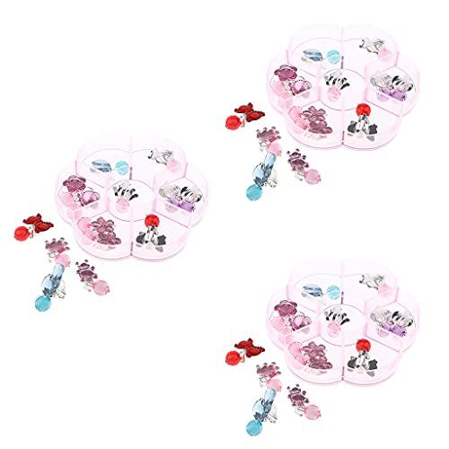 sharprepublic 7 Paia dei Cartoni Animati Arring Clip-on Orecchini per Bambini Ragazze Vestire Accessori