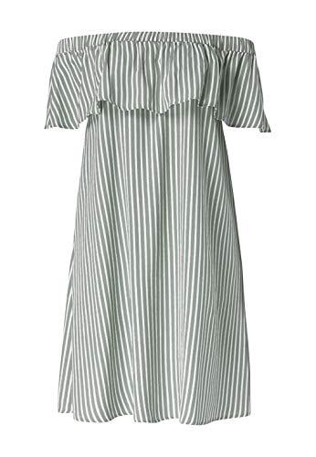 HALLHUBER Gestreiftes Off-Shoulder-Kleid Animal Salbei, 40