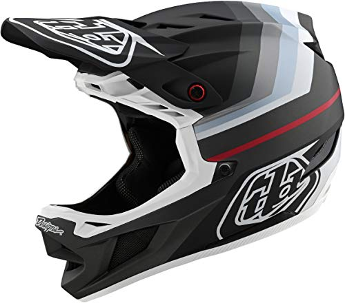 Troy Lee Designs Adult   BMX   Downhill   Mountain Bike   Full Face D4 Composite MIPS Mirage Helmet (X-Small, Black/Silver)