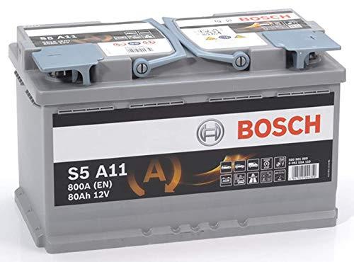 Bosch Batteria per Auto S5A11 Start&Stop AGM 80A / h-800A