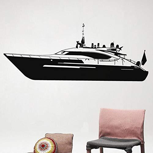 yaonuli Motorboot Yacht Wandaufkleber Familiendekoration Wandbild Wohnzimmer Kinderzimmer Wanddekoration 50X66cm