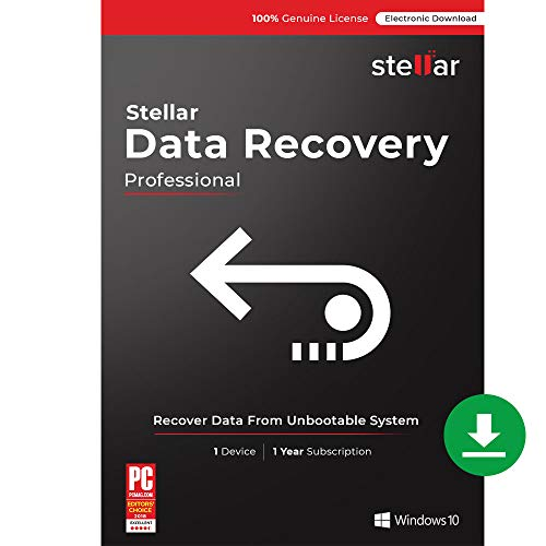 Stellar Data Recovery Software | Windows | Professional | 1 PC 1 Year | Email Delivery