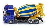 Siku 3539, Fahrmischer, 1:50, Metall/Kunststoff, Gelb/Blau, Drehbare Trommel -