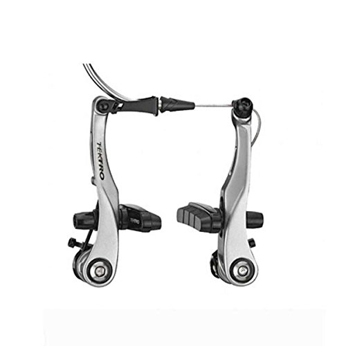 TEKTRO RX6 Mini V-Brake, Compatible with Road levers, for one Wheel, Silver, Black