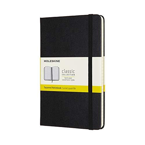 モレスキン クラシック ノートブック ハードカバー ミディアムサイズ ブラック 方眼 QP051