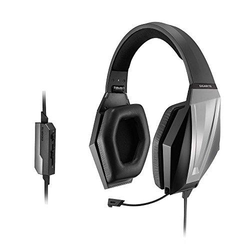 Gigabyte Force H3X Headset Binaural Kopfband Schwarz - Headsets (PC/Gaming, Binaural, Kopfband, Schwarz, Verkabelt, 2 m)