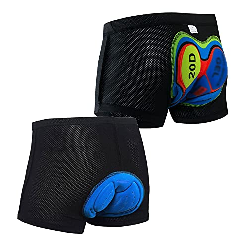 ZZAL Ciclismo Ropa Interior Shorts de Ciclismo para Hombre Ropa Interior de Bicicleta con Pierna Antideslizante y Transpirable Pantalones de Montar A Caballo(Size:XXXL,Color:A2+A6)