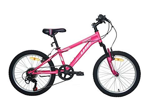 Umit 20 Pulgadas Rosa, Bicicleta XR-200 Partir de 6 años, con Cambio Shimano y Suspension Delantera, Unisex niños