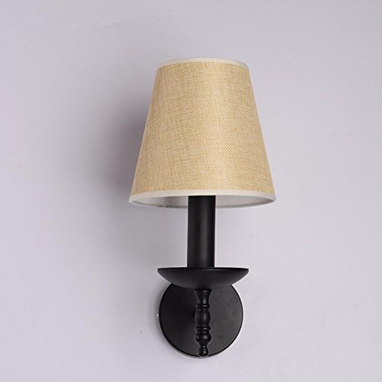 YU-K Moderne Wandleuchte schmiedeeiserne Lampe Wandleuchte ist perfekt für Bar Restaurant Cafe Wohnzimmer Schlafzimmer Flur Balkon, 20 cm  35 cm, leinen Farbe