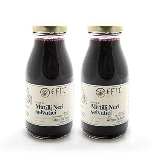 Succo di mirtilli neri selvatici - Efit - 255ml - Confezione da 2 pezzi - Succo di frutta 100% naturale