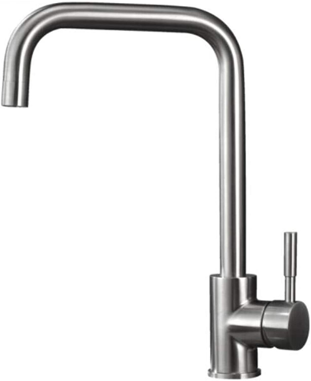 Taps Mixer?Swivel?Faucet Sink Bathroom Faucet Cold and Hot Kitchen Washbasin 304 Stainless Steel Lead-Free Sink Faucet Single Hole